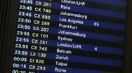 Flight Board Hong Kong Airport Stock Footage