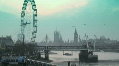 London Eye (Time lapse) London - stock footage