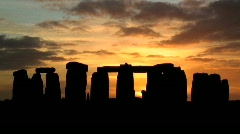 Time lapse Sunset over Stonehenge Stock Footage