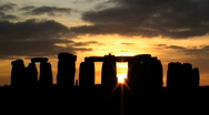 Stock Video Footage of Time lapse Sunset over Stonehenge