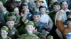 Communist figurine, Souvenirs Hong Kong Stock Footage