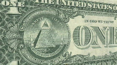 All Seeing Eye On Dollar Bill #2 - stock footage