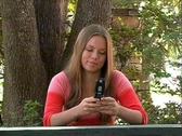 Teen Girl Texting-6 Stock Footage