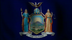 New York State Flag - HD - stock footage