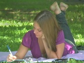 Stock Video Footage of Lovely Teen Girl in the Park