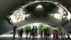 "Under The ""Bean"" at Millennium Park, Chicago Stock Footage"