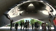 "Stock Video Footage of Under The ""Bean"" at Millennium Park, Chicago"