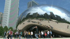 "The ""Bean"" at Millennium Park, Chicago Stock Footage"
