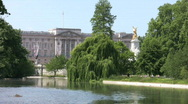 Buckingham Palace and Queen Victoria Memorial London England Stock Footage