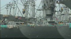 AlamedaNaval_MSships.mov Stock Footage