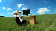 Business daydream Stock Footage