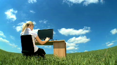 Business daydream - stock footage