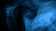 Smoke Blue 01 Loop Stock Footage