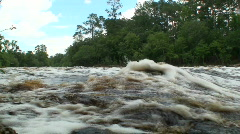 Big Shoals State Park Suwannee River Low Angle 2.mov Stock Footage