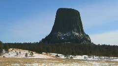 Devil's Tower - stock footage
