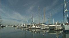 AlamedaMarina_WSboatway.mov Stock Footage