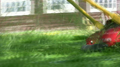 Hand Lawnmover Stock Footage