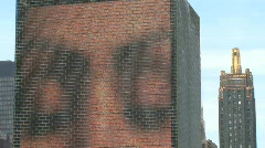 Face stone close up at Millennium Park, Chicago - stock footage