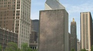 Clouds stone at Millennium Park, Chicago Stock Footage