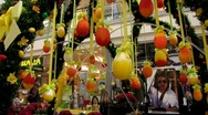 Easter festival decoration Stock Footage
