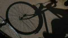 Bicycling Shadow Stock Footage