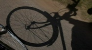 Stock Video Footage of Bicycling Shadow