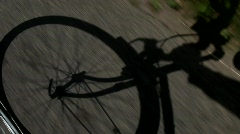 Bicycling Shadow - stock footage