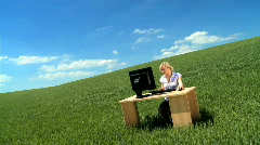 Working without walls Stock Footage