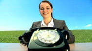 Old time communication Stock Footage