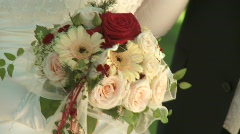 Wedding Bouquet - stock footage