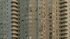 Building during different times of the day Stock Footage