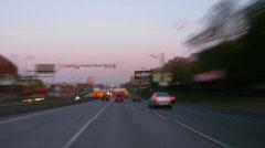 Quick traffic on autobahn - stock footage