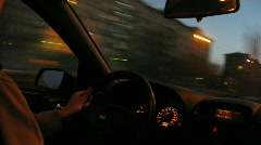 Driver on quick driving Stock Footage