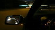 Night street from window of the car Stock Footage