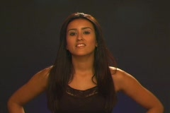 """Beautiful Latina Says, """"You can depend on it"""" (Spanish) - stock footage"""