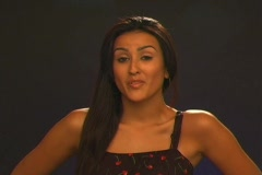"""Beautiful Latina Says, """"It Doesn't Get Any Better than That"""" (Spanish) Stock Footage"""