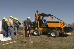 Drill with group of workers Stock Footage