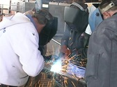 Stock Video Footage of Welders group