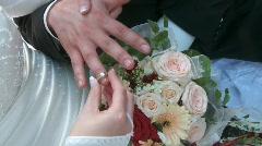 Wedding: Put Ring on Finger - stock footage