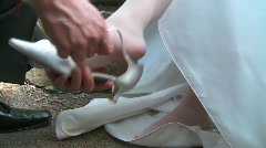 Bride Shoes Stock Footage
