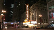 Stock Video Footage of Chicago sign at Night