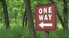 One way sign Stock Footage