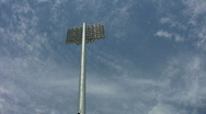 Stadium lights.Light timelapse. Stock Footage