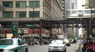 Stock Video Footage of Busy street downtown Chicago