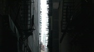 City alley downtown Stock Footage