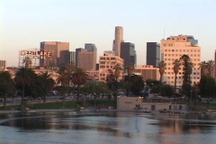 Echo Park sits near downtown Los Angeles. Stock Footage
