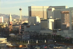 Hotels and casinos rise on the Las Vegas strip. Stock Footage