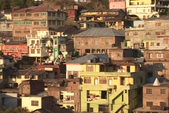 A Tibet style village clings to the mountainside in Dharamsala, India. Stock Footage