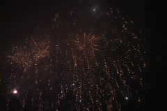 Fireworks light up the night sky. Stock Footage