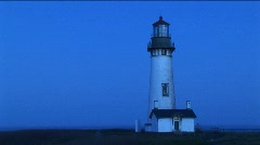 A white flashing beacon breaks up the blue tones of this footage Stock Footage